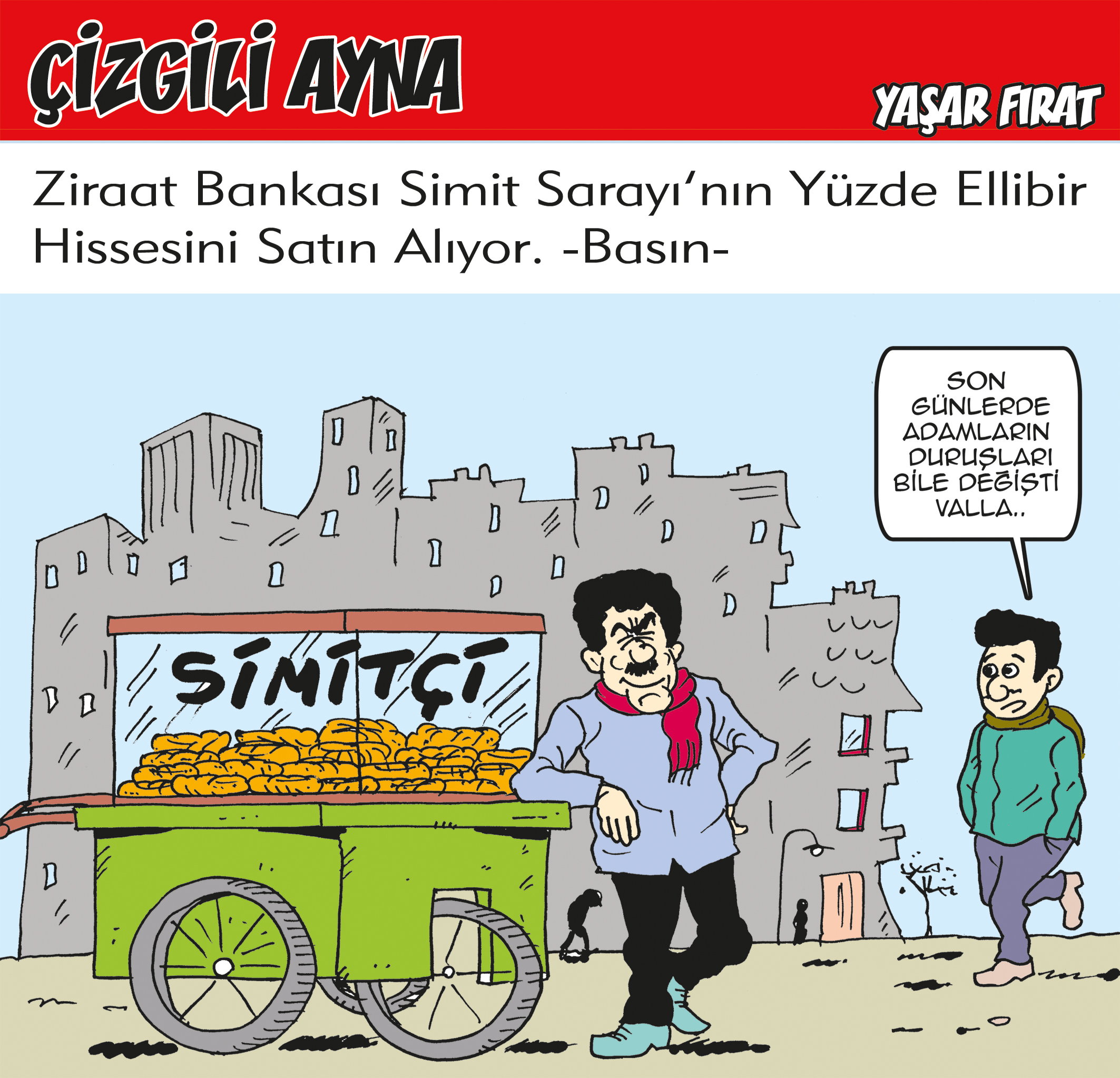 Yaşar Fırat çizdi: Simit Sarayı